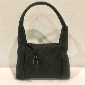 GUCCI GG Supreme Black Denim Bag